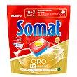 Detergente lavavajillas Oro 12 funciones Caja 18 pastillas Somat
