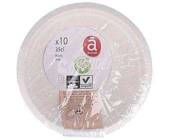ACTUEL Planet Friendly Pack de 10 boles de cartón desechables, 0,35 litros, ACTUEL. Pack de 10