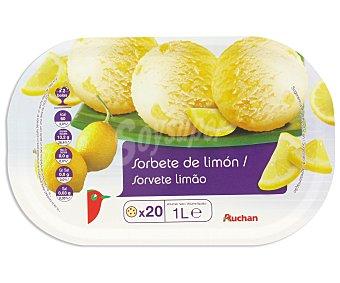 Auchan Tarrina helado sorbete de limón Litro