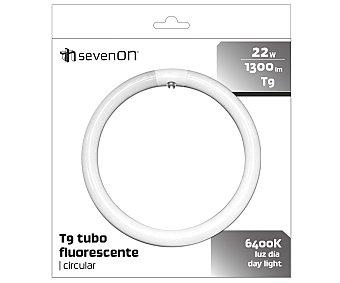 SEVENON Tubo fluorescente circular 22W, con casquillo G10 y luz fría 1 unidad