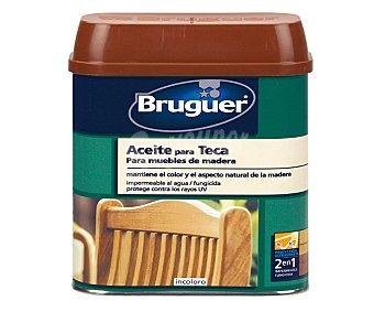 BRUGUER Aceite para muebles de teca con acabado impermeabilizante 75 centilitros