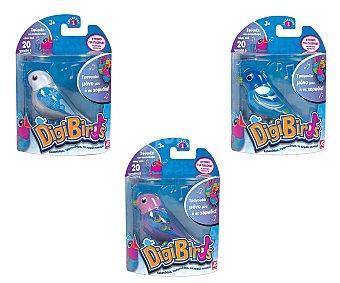 DIGIBIRDS Mascota interactiva que canta de verdad, incluye un anillo-silbato para sostenerlo y jugar 1 unidad