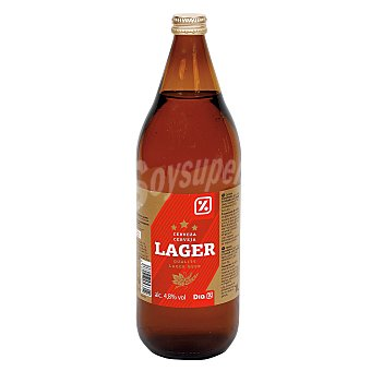 DIA Cerveza rubia nacional botella 1 lt Botella 1 lt