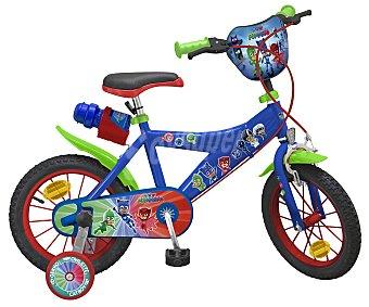 "Pjmasks Bicicleta infantil 14"" con cuadro de acero y freno delantero Caliper, PJ MASKS."