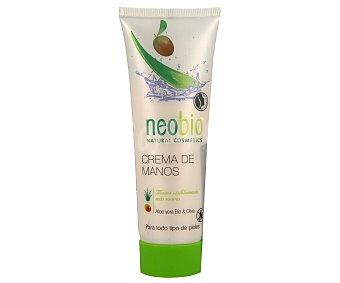 Neobio Crema de manos hidratante con aceite de oliva y manteca de Karité bio 75 ml