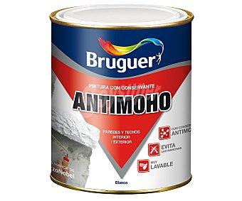 BRUGUER Pintura antimoho para uso interior o exterior, de color blanco 0.75 litros