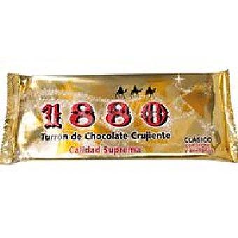 1880 Turrón de chocolate crujiente sin azúcar Caja 200 g