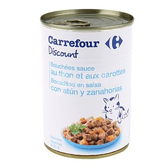 Carrefour Bocaditos para gatos de atún 400 gr