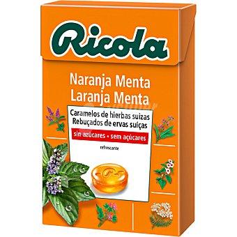 Ricola Caramelos balsámicos de hierbas suizas sin azúcar sabor naranja-menta Caja 50 g