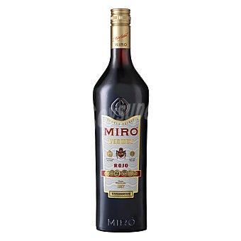 Miro Vermut rojo elaborado con una selección de aromáticos del mediterraneo y alpinos Botella de 1 l