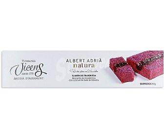 VICENS Turrón de frambuesa (mazapán de frambuesa con azúcar de flor de violeta) 300 gramos