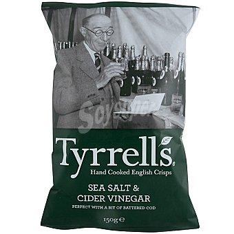 TYRRELL'S Patatas Fritas con vinagre de sidra y sal marina Bolsa 150 g