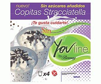 Bornay Vasos Straciatella Sin Azúcar 4 Unidades de 150 Mililitros