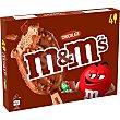 Bombón helado de chocolate 4 unidades Estuche 252 g M&M's