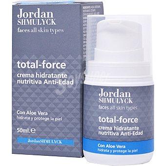 JORDAN SHMULYCK Total Force Crema facial hidratante nutritiva anti-edad con Aloe Vera Tubo 50 ml