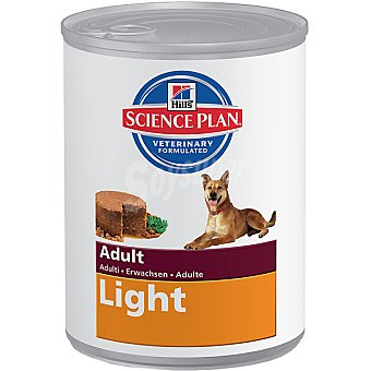 HILL'S SCIENCE PLAN ADULT LIGHT Alimento especial para perro adulto con pollo para mantener el peso ideal lata 370 g Lata 370 g