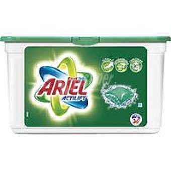 Ariel Detergente líquido cápsulas Caja 36 dosis