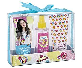 Disney Estuche de regalo infantil, incluye colonia de 100 mililitros, loción corporal y gel de baño de 95 mililitros, Soy Luna 1 unidad