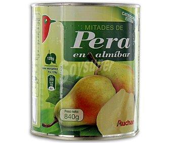 Auchan Mitades de pera en almíbar 480 gramos peso escurrido