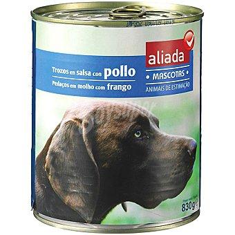Aliada Alimento completo con pollo en salsa para perro Lata 830 g
