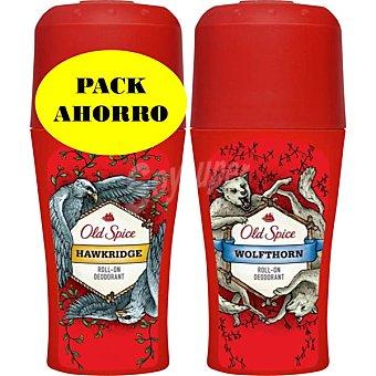 OLD SPICE Desodorante roll-on Hawkridge + desodorante roll-on Wolfthorn envase 50 ml Envase 50 ml