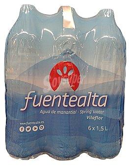 Fuentealta Agua de manantial Pack 6 x 1500 cc - 9 l