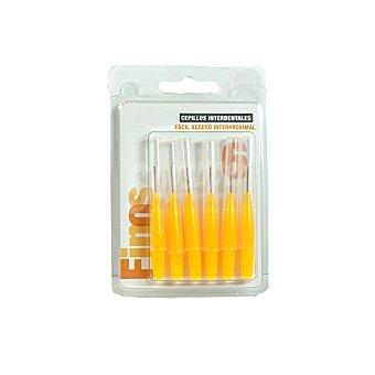 Spberner Cepillo interdental fino amarillo Paquete 6 u
