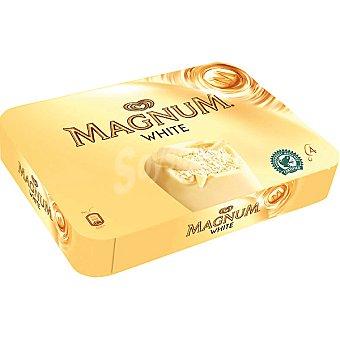 Magnum Frigo Helado de vainilla con chocolate blanco White 4 unidades estuche 440 ml 4 unidades