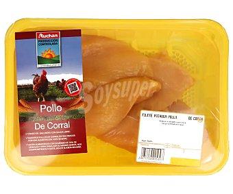 ALCAMPO PRODUCCIÓN CONTROLADA Bandeja de pechuga de pollo de corral fileteada 190 gramos aproximados