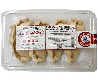 La criollita Empanadas criollas de maiz y queso 4 uds