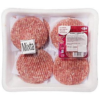 Carrefour Hamburguesa mixta (vacuno y cerdo) 8x125 gr