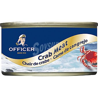Officer Carne de cangrejo Lata 121 g neto escurrido