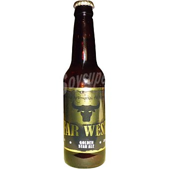 Far West Golden Star Ale cerveza artesana de Almeria botella 33 cl Botella 33 cl
