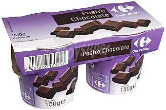 Carrefour Postre Chocolate Pack 2x150 g