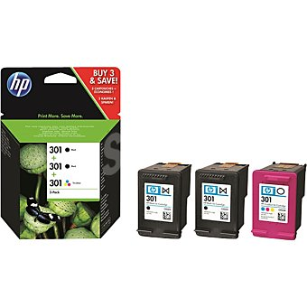 HP Nº 301 Tinta original Pack 3