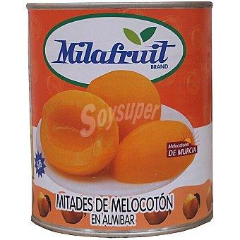 Milafruit Melocotón en almíbar en mitades 5-6 piezas Lata 480 g neto escurrido