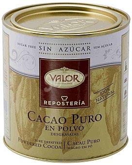 VALOR Cacao puro en Polvo desgrasado especial(100% natural) Apto para diabéticos y celiacos 250 Gramos