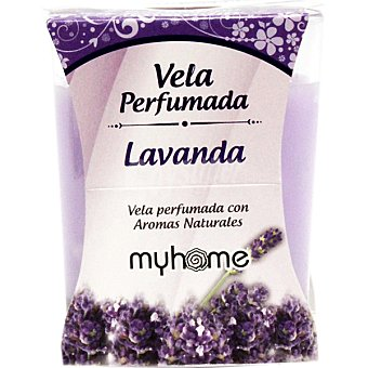 S&S Myhome vela perfumada Lavanda con aromas naturales vaso 1 unidad Vaso 1 unidad