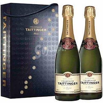 Taittinger Champagne brut reserva estuche de cartón 2 botella 75 cl