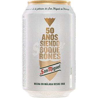 San Miguel cerveza rubia premium especial 50 Aniversario  lata 33 cl