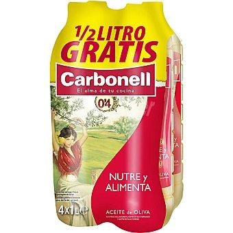 CARBONELL aceite de oliva 0,4º + 0,5 l gratis pack 4 botellas 3,5 l