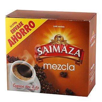 Saimaza Café molido mezcla 50% natural, 50% torrefacto Pack de 2x250 g