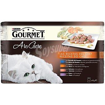 GOURMET GOLD Alimento para gatos pescado del oceano lata 4x85 gr 4x85 gr