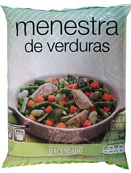 Hacendado Menestra verdura congelada Paquete de 1 kg