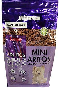 COMPY Comida de perro razas pequeñas mini aritos blandos Paquete de 1 kg