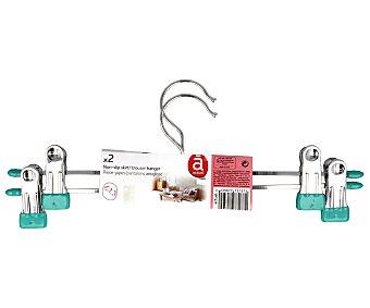 Auchan Perchas con Pinzas Falda-Pantalón 30 cm Antideslizante 2 Unidades