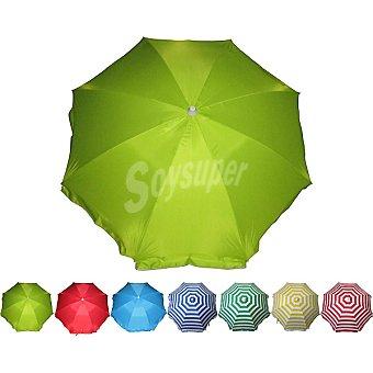 EDA PLASTIQUES Sombrilla de playa en acero 200 cm en colores surtidos
