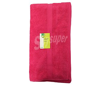 Productos Económicos Alcampo Toalla para baño 100% algodón, 400g/m², color rosa fucsia, 100x150 centímetros 1 Unidad