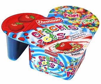 Ehrmann Petit de Fresa con dulces Crackle Pots 135 Gramos
