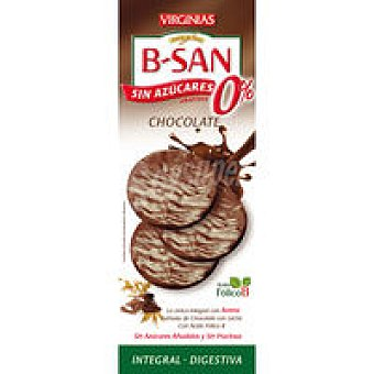 Virginias B-san de chocolate con leche 0% sin azúcar Caja 110 g